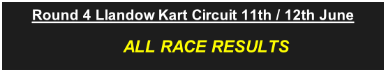 Round 4 Llandow Kart Circuit 11th / 12th June                          ALL RACE RESULTS